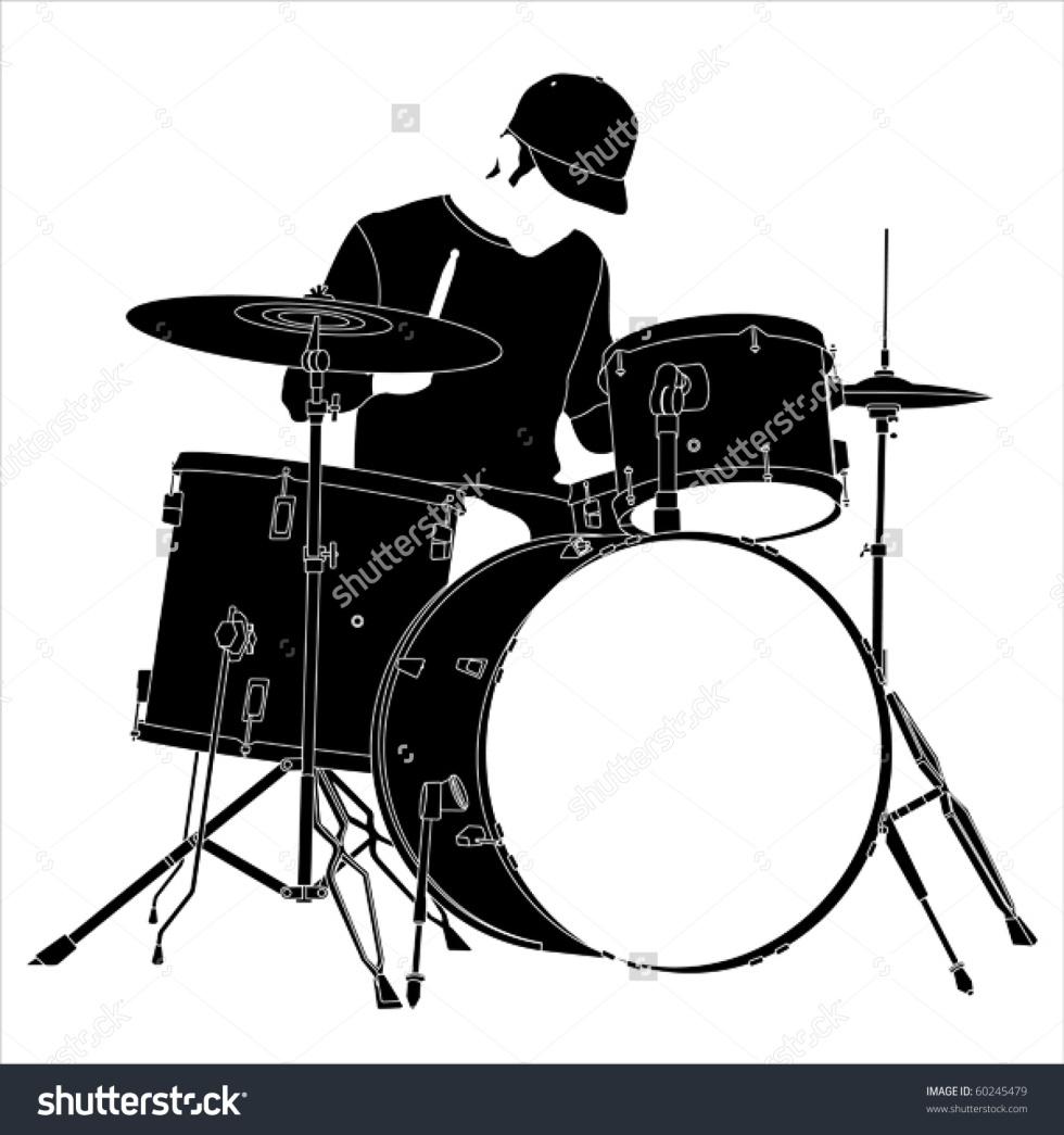 stock-vector-drummer-silhouette-60245479